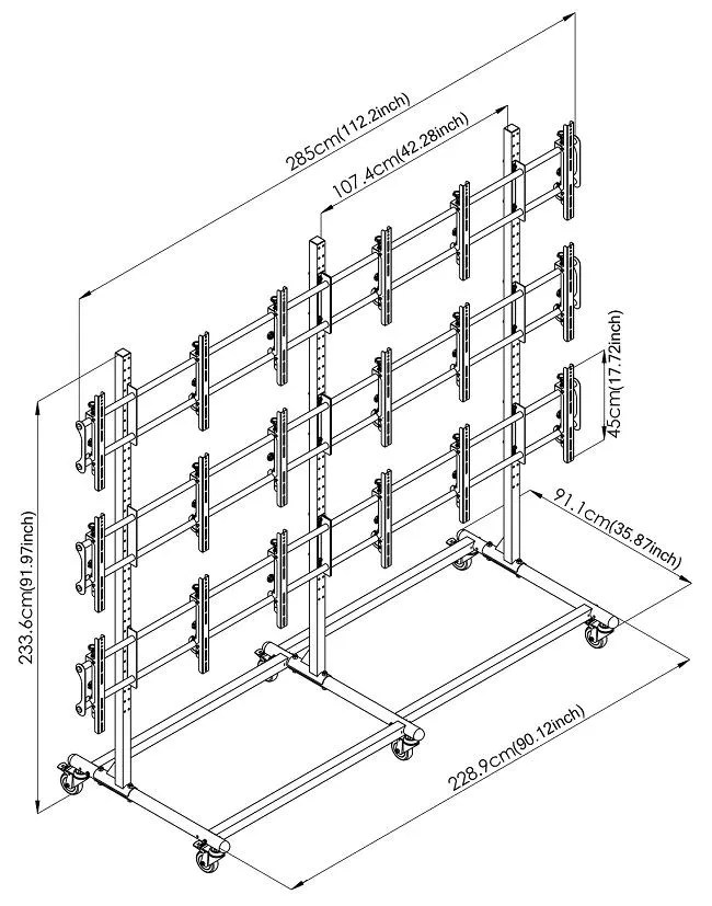 Video Wall Cart/Stand For 46