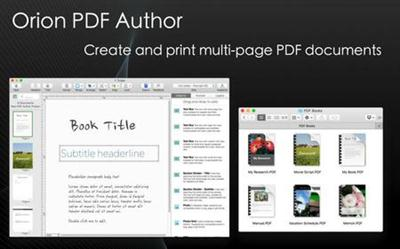 Orion PDF Author 2.96 (Mac OSX)