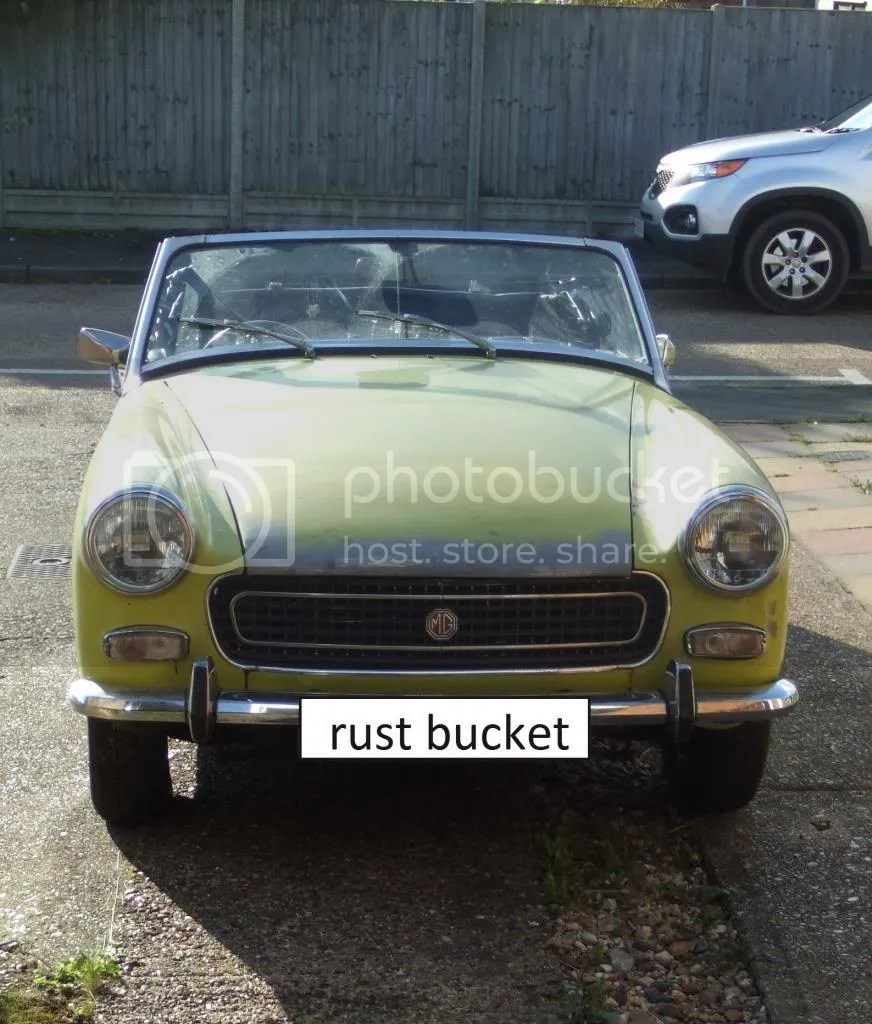 medium resolution of one rusty mg midget