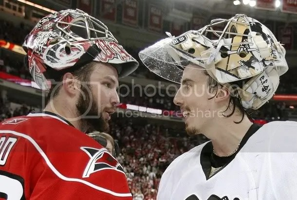 Marc-Andre Fleury may have beat Cam Ward on the ice, but his beard doesnt hold a candle to Cams.