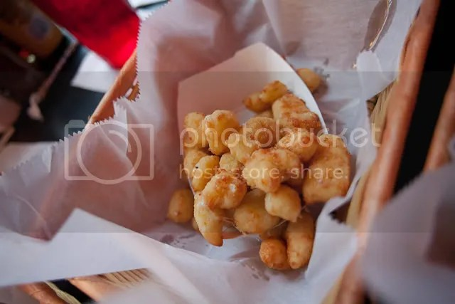 Deep fried cheese curds! So fresh they were squeaky.