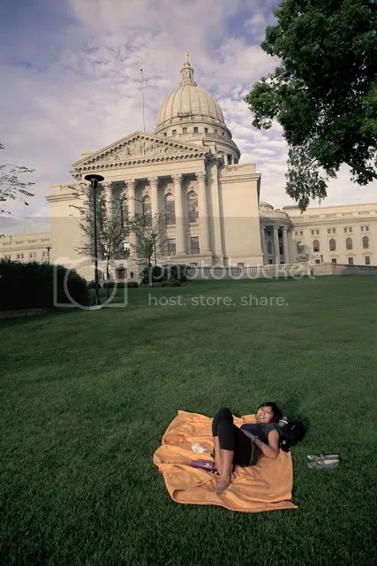 Relaxing on the Lawn of the Capitol Building