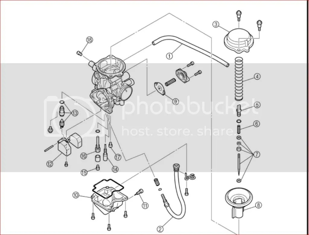 03 Yamaha Grizzly 660 Carb Diagram, 03, Free Engine Image