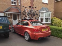1M with roof rack and bikes