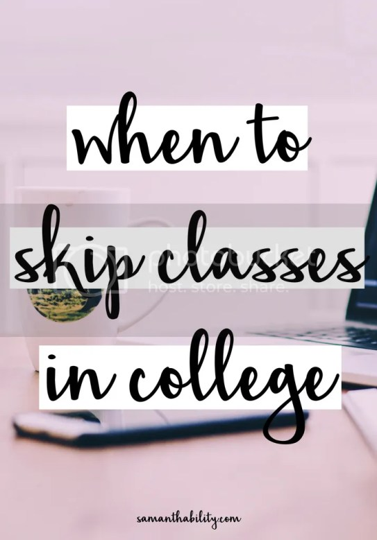 How to skip classes smartly in college!