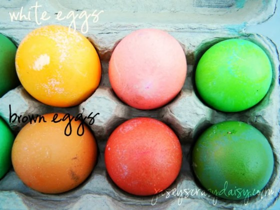 Southwestern Colored Easter Eggs