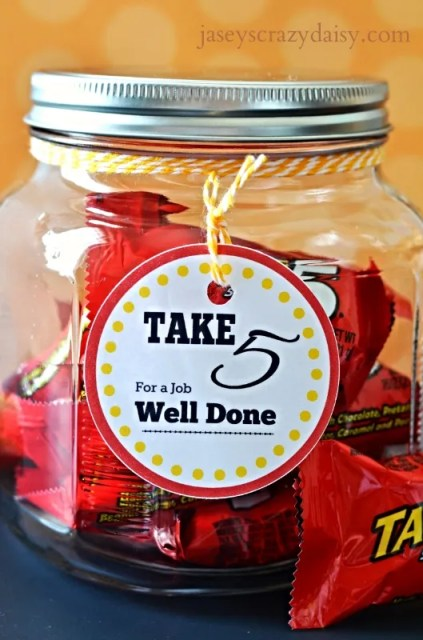 Take 5 For A Job Well Done Appreciation Gifts