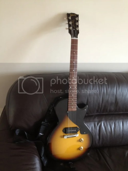 small resolution of uk fs gibson billie joe armstrong les paul junior one piece body