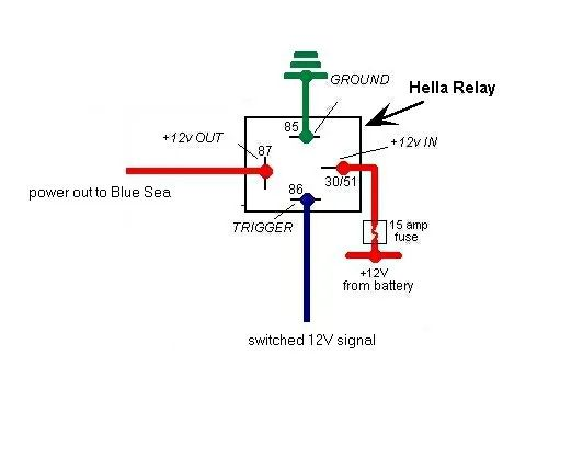 12 volt fan relay wiring diagram