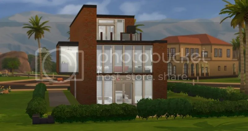 The Brick Wall House Featuring Creations For The Sims 4