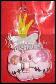 #LS021 - Pink Scrump w Angel Balloon Keychain - S$4.00