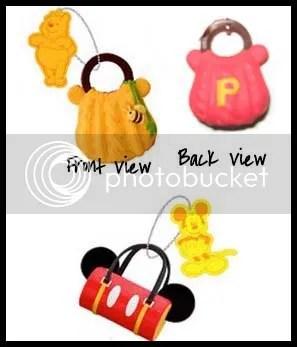#WP006 – Disney Winnie & Mickey Handbag Emblem - S$2.00