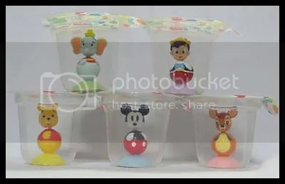 #MF003 Disney Charactes in Jelly Cup - S$3 (each) , S$14 (set of 5)