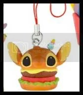 #LS018 - Stitch Burger Phone Strap (2x)  - S$3 (each), S$5 (both)