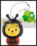 #WP013 – Winnie the Pooh in Bee Costume Keychain - $3