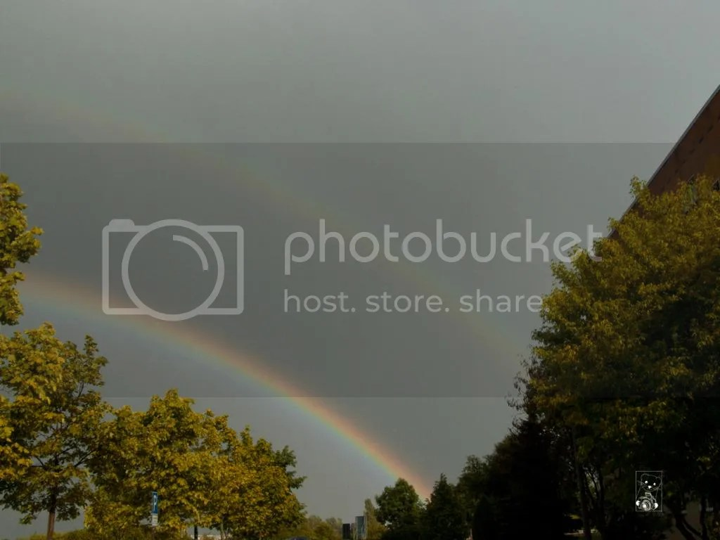 Double rainbow in Saxony, Germany