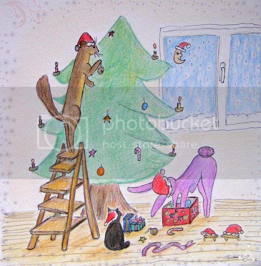 Christmas Weasel & Bunny