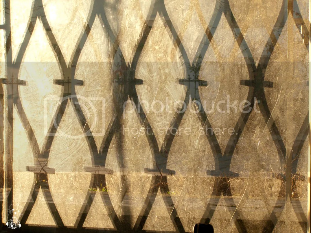 Shadows of the gitters at the windows of a house in Moritzburg, Germany