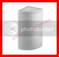 WHITE PLASTIC BATHROOM CORNER WALL CABINET SINGLE DOOR | eBay