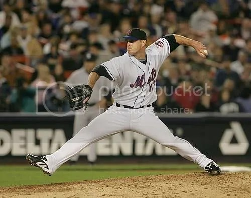 Billy Wagner on mound for Mets