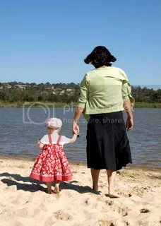 Lillydale lake Tilly & granny