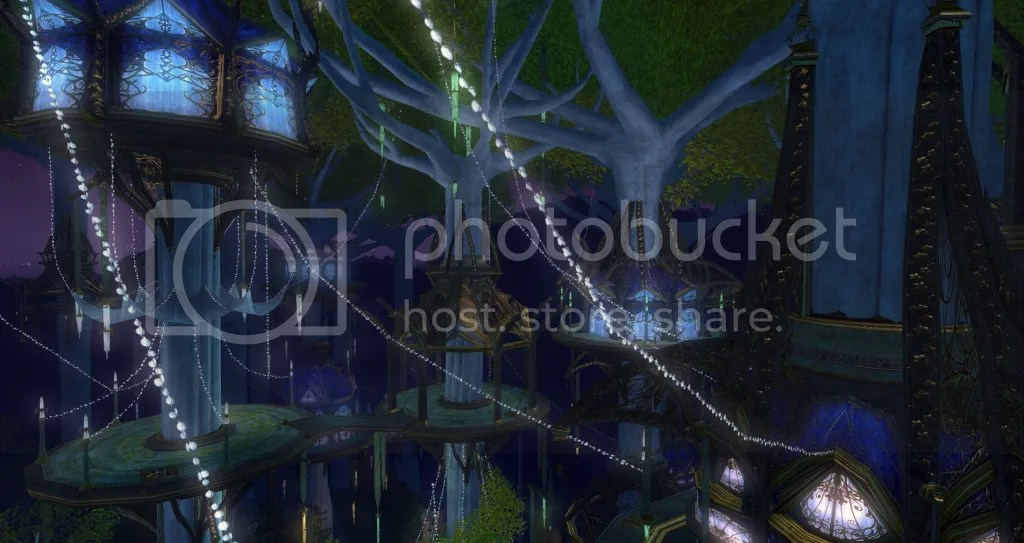 Caras Galadhon, Lothlorien photo Lothlorien-Lights