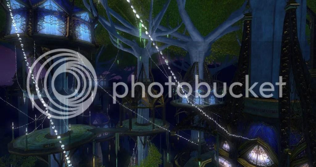 Caras Galadhon, Lothlorien photo Lothlorien-Lights