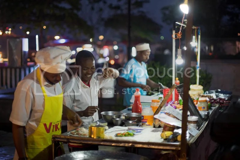 Night market in Stone Town.