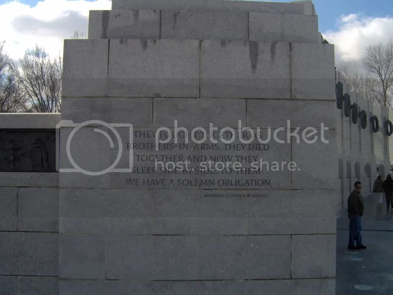 From the WWII memorial