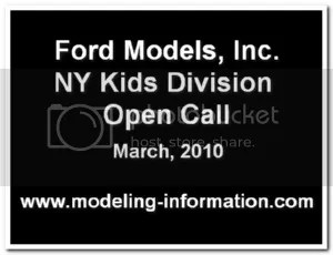 Ford Models Kids Division Open Call