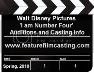 Walt Disney Pictures I am Number Four Auditions