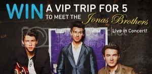 AIM Jonas Brothers Concert Sweepstakes