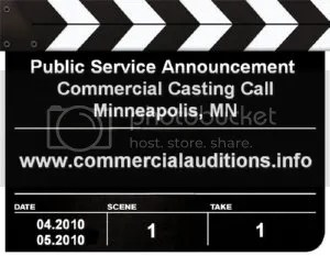 PSA Commercial Casting Call Minneapolis