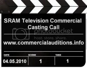 SRAM Television Commercial Casting Call