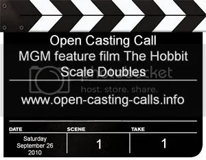 The Hobbit Open Casting Call