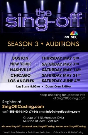 The Sing Off Promo Poster