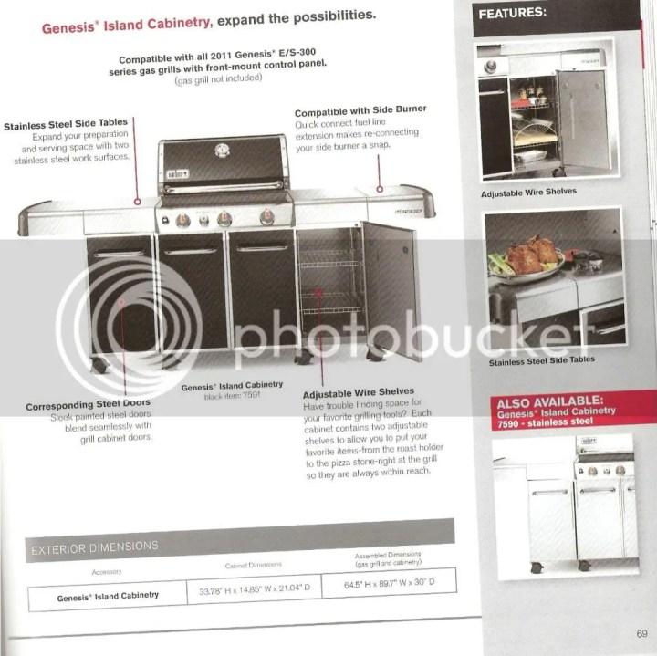 weber genesis grill center stainless steel cabinets. Black Bedroom Furniture Sets. Home Design Ideas