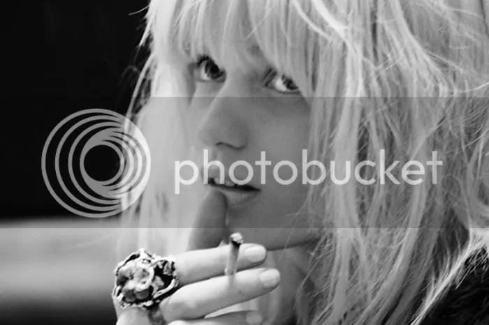 Abbey Lee,smoking,bleach,black & white