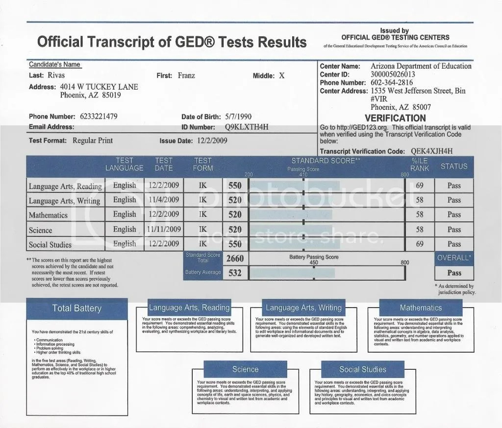 Ged Transcripts Question
