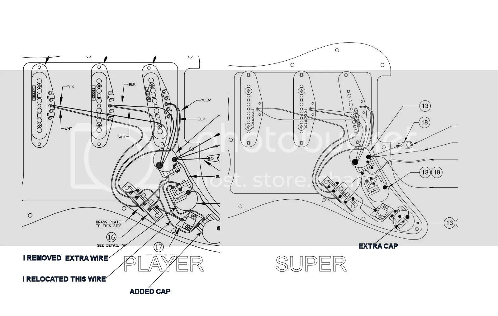Super Strat Wiring Diagram Single Pickup Guitar Wiring
