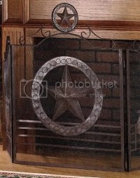 Fireplace Screen Texas Lone Star Photo by jtal8180731 ...
