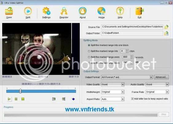 Ultra Video Splitter 5.4 serial