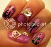 love story skittle nail art
