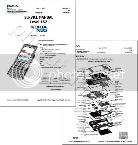 بورد صيانة الجوال Nokia N95 من الالف الى الياء