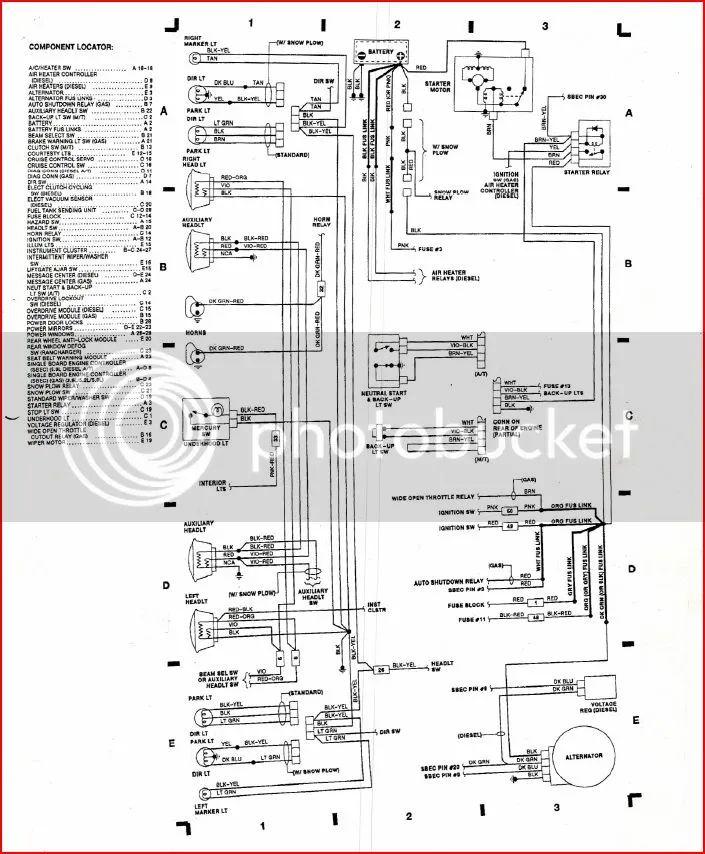89 dodge diesel wiring diagram radio