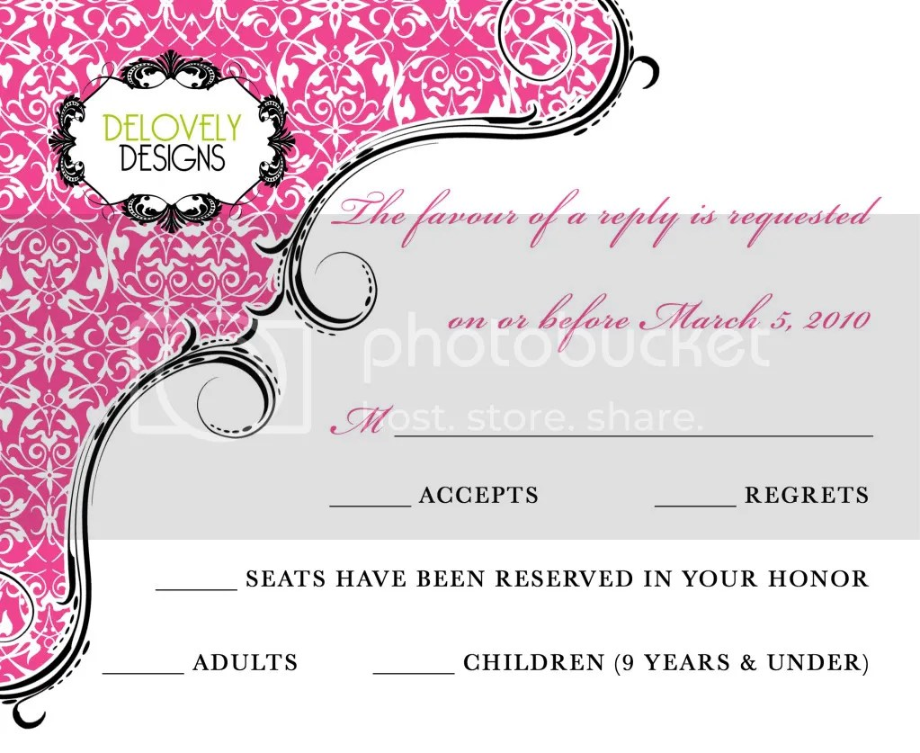 Delovely Designs New Wedding Invitation Design  Rebekah and Jerry