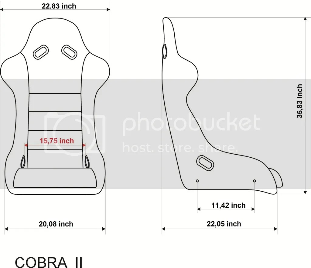 Bimarco Cobra 2 Racing Bucket Seat With Leather
