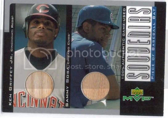 Ken Griffey Jr./Sammy Sosa Dual Bat
