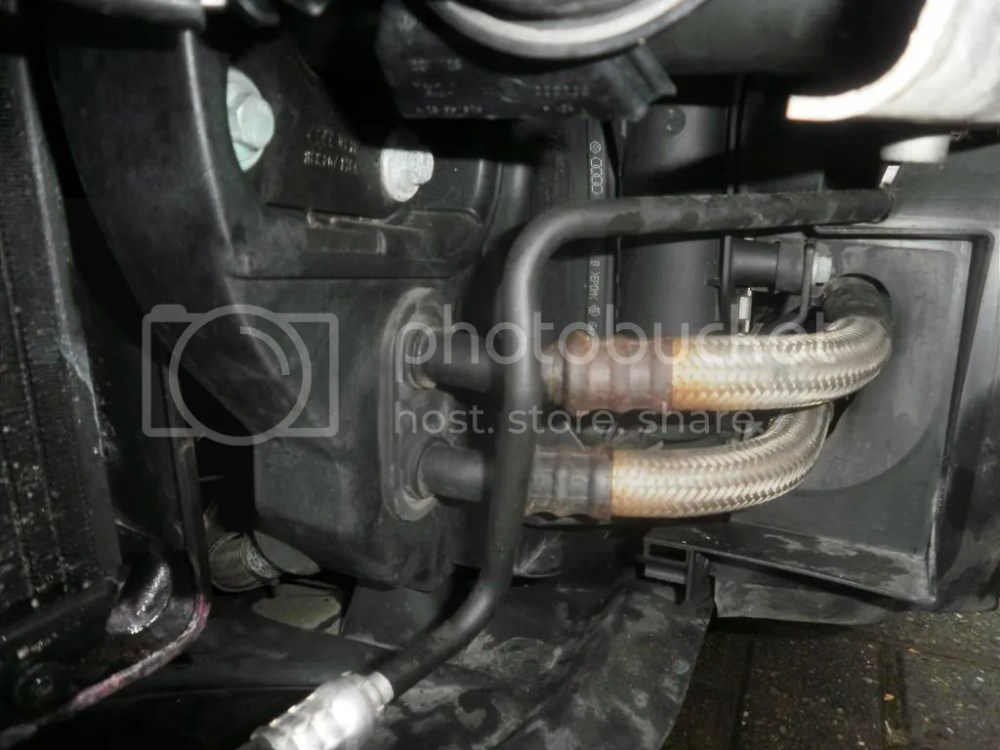 medium resolution of oil cooler leak where