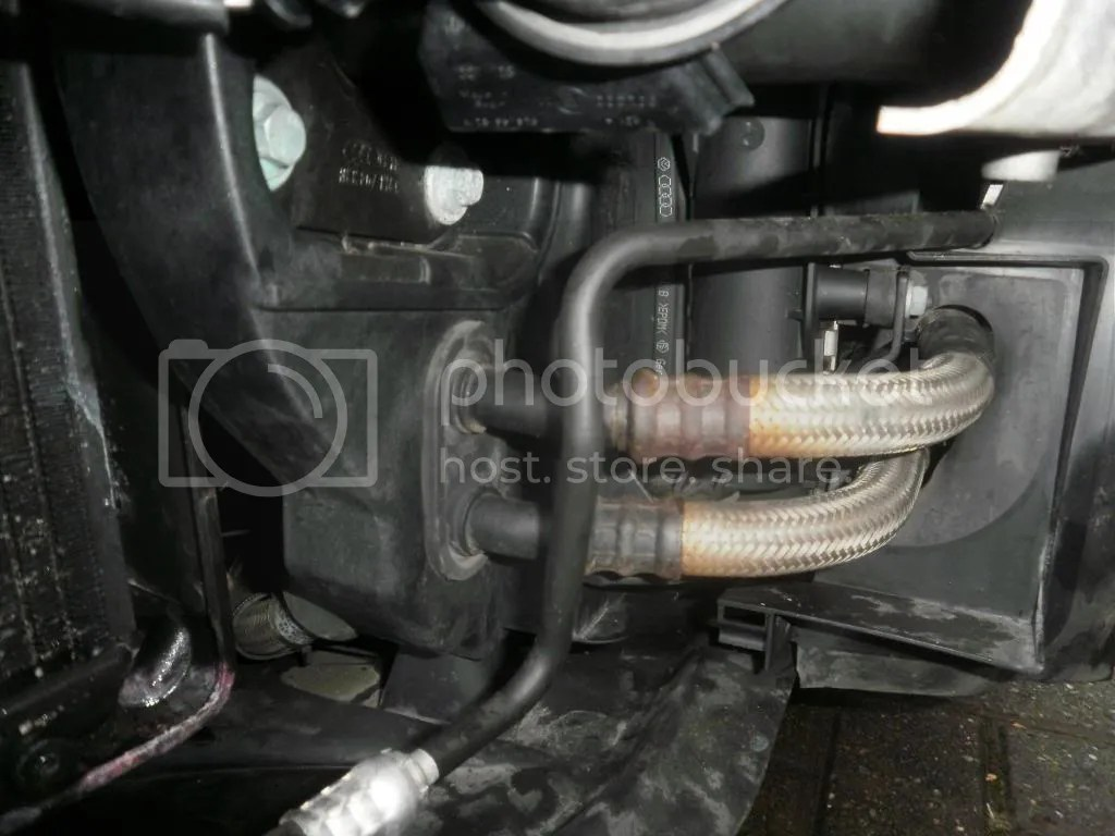 hight resolution of oil cooler leak where